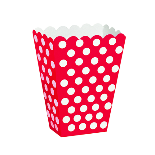 Snacks box, dotty röd