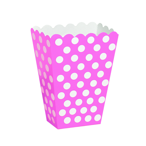 Snacks box, dotty rosa