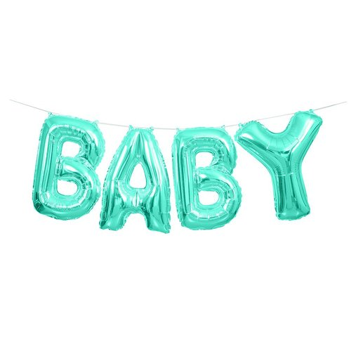 Folieballong, BABY Kit - baby blue