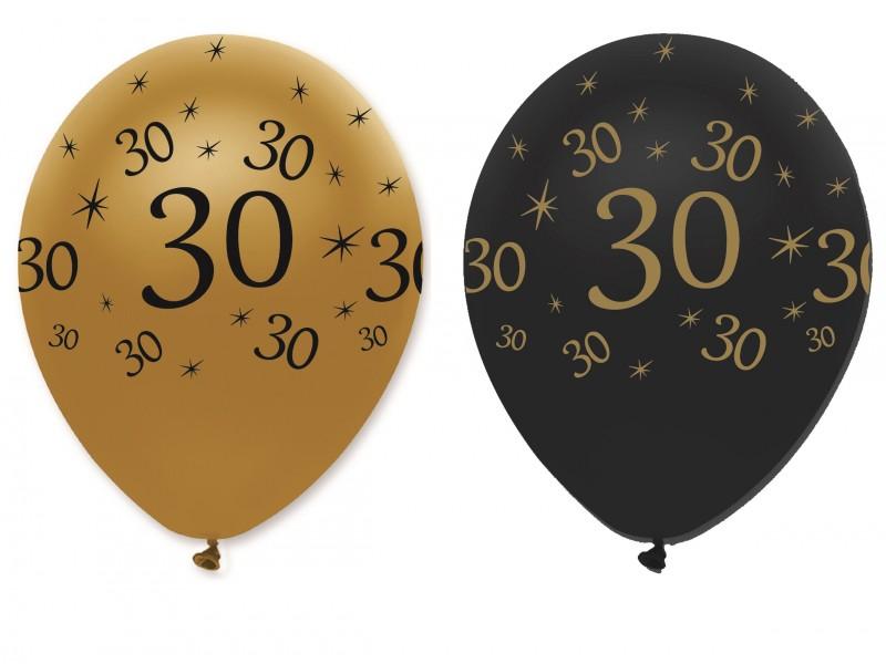 30 års ballonger Ballonger, 30 år svart guld 30 års ballonger