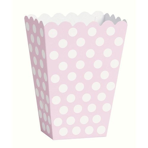 Snacks box, dotty ljusrosa