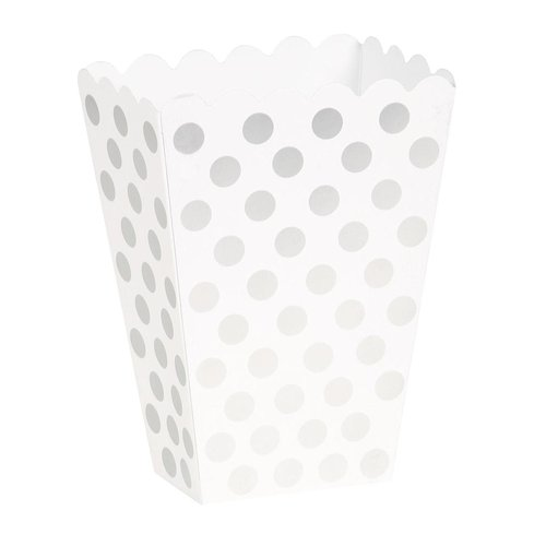 Snacks box, dotty silver