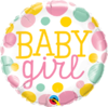 Foliopallo, baby girl dots