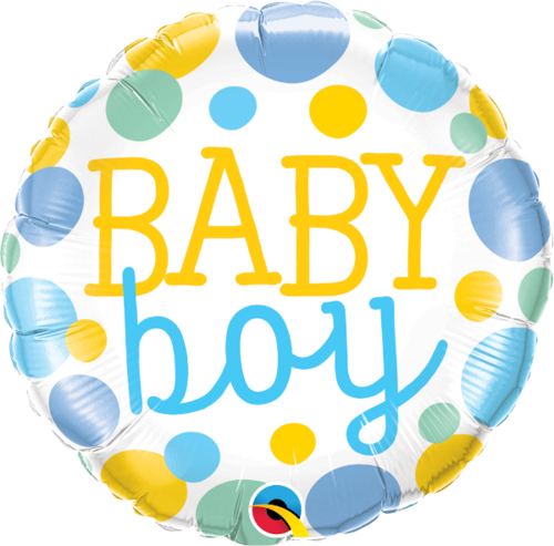 Folieballong, Baby Boy Dots
