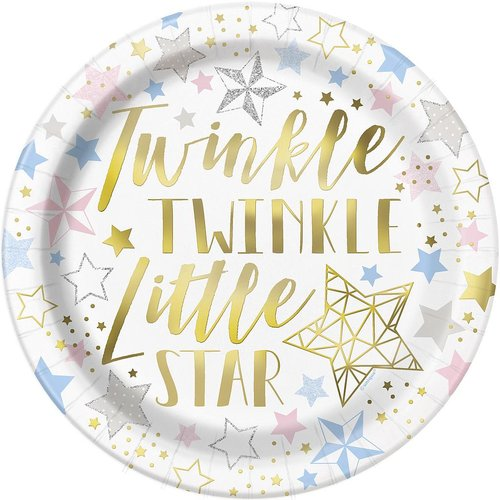 Twinkle little star stora tallrikar