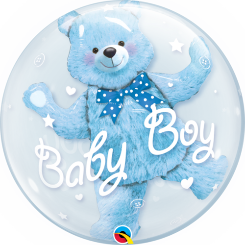 Double Bubble ballong, baby blue bear
