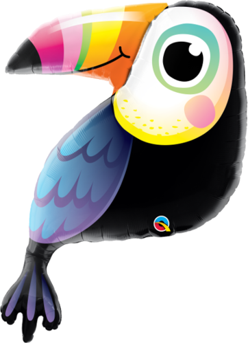 Motivfolieballong, Colorful Toucan