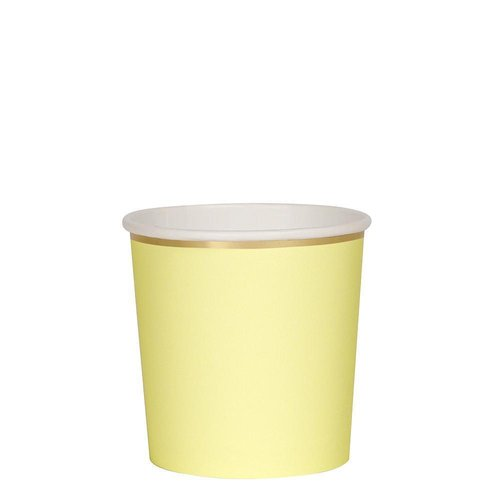 Octagonal pale yellow, muggar