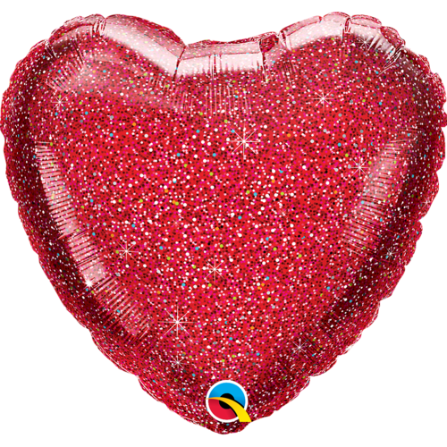 Folieballong, Glittergraphic red